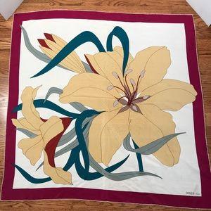 Vintage Gres Paris 100% silk scarf